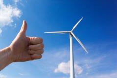 Potenza di windturbine del mulino a vento Immagine Stock