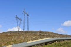 Potenza geotermica ed acqua calda Fotografia Stock Libera da Diritti