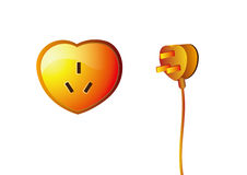 Potenza Heart-shaped Immagine Stock Libera da Diritti