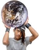 Potenza mondiale teenager di punk o di emo Fotografie Stock Libere da Diritti