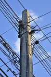 Potenza palo ad alta tensione Fotografia Stock