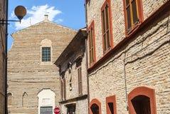Potenza Picena (Macerata) -古老大厦 免版税库存照片