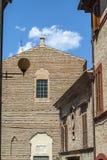 Potenza Picena (Macerata) - forntida byggnader Royaltyfria Bilder
