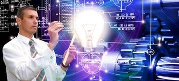potenza tecnologia di industriale di fabbricazione immagine stock