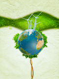 Potenza verde del vento Fotografia Stock Libera da Diritti