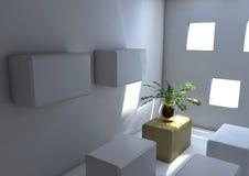 Potenziometer-Anlage in einem quadratischen Raum Lizenzfreies Stockbild