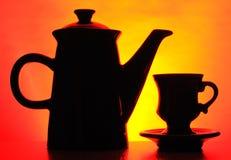 Potenziometer des schwarzen Kaffees Lizenzfreie Stockfotografie