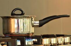 Potenziometer und Ofen Stockfotos