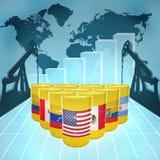 Potere americano dell'olio Immagini Stock