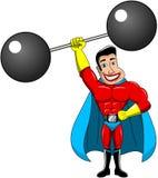 Potere armato del sollevatore pesi del supereroe uno isolato illustrazione di stock