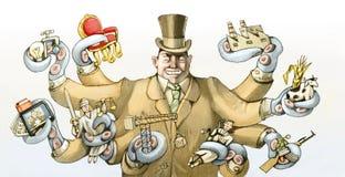 Potere corrotto illustrazione di stock