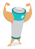 Potere dalla batteria di energia del muscolo Fotografie Stock Libere da Diritti