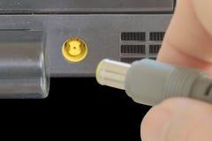 Potere del computer portatile Fotografie Stock Libere da Diritti