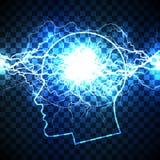Potere del concetto di mente umana Fotografia Stock Libera da Diritti
