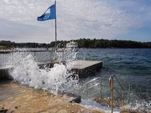 Potere dell'oceano! Fotografia Stock Libera da Diritti