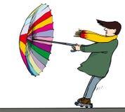 Potere dell'ombrello Fotografia Stock