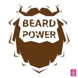 Potere della barba illustrazione di stock