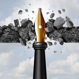 Potere della penna royalty illustrazione gratis
