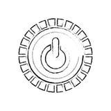 Potere di interruttore on-off illustrazione di stock