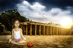 Potere di meditazione Immagini Stock