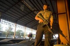 POTERE INDONESIANO DELLA FORZA DI POLIZIA Immagine Stock Libera da Diritti