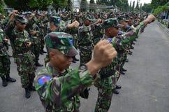 POTERE MILITARE INDONESIANO Immagine Stock Libera da Diritti