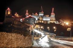Potere sopra il castello in Kamianets-Podilskyi fotografie stock
