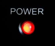 potere su luce rossa Fotografia Stock