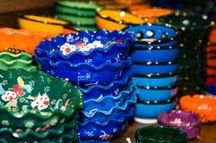 poterie colorée Photographie stock libre de droits