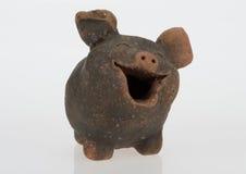 poterie de terre de porc Images libres de droits