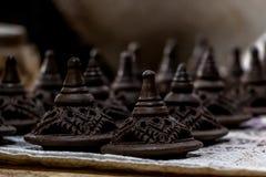 Poterie de terre traditionnelle de poterie Images libres de droits