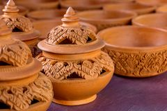 Poterie de terre traditionnelle de poterie Photographie stock libre de droits