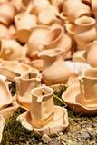 Poterie en céramique chez Horezu, Roumanie Image libre de droits