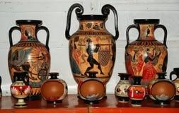 Poterie en tirant des copies des vases au grec ancien Photos libres de droits