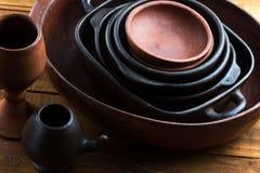 Poterie faite main en céramique, poterie de terre, articles en céramique, ustensile Photographie stock libre de droits