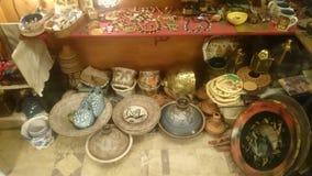 poterie égyptienne faite main et bijoux Photo libre de droits