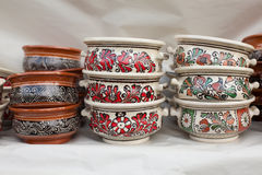 Poterie roumaine traditionnelle Photo stock