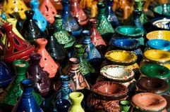 Poterie traditionnelle au Maroc Image libre de droits