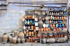 Poterie traditionnelle d'argile à vendre Image libre de droits