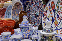 Poterie tunisienne Photographie stock