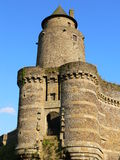Poterne. Chateau de Fougeres ( France ) Royalty Free Stock Photography