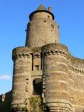 Poterne. Chateau de Fougeres (Frances) Photographie stock libre de droits