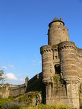 Poterne du chateau de Fougeres ( France ) Stock Image