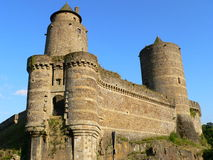 Poterne du chateau de Fougeres ( France ) Stock Photo
