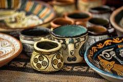 Potes de arcilla hechos a mano Imagenes de archivo