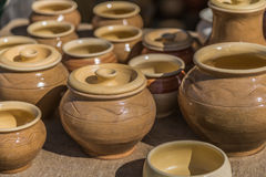 Potes de cerámica Foto de archivo
