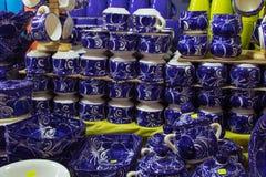 Potes de cerámica de Talavera del mexicano fotos de archivo libres de regalías