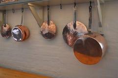 Potes de cobre Fotografía de archivo libre de regalías