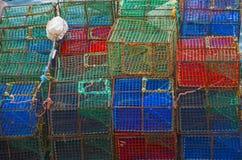 Potes de pesca imagenes de archivo