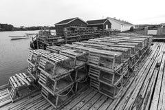 Potes de pesca del cangrejo Imagen de archivo